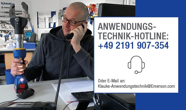 Anwendungstechnik-Hotline 02191 907354