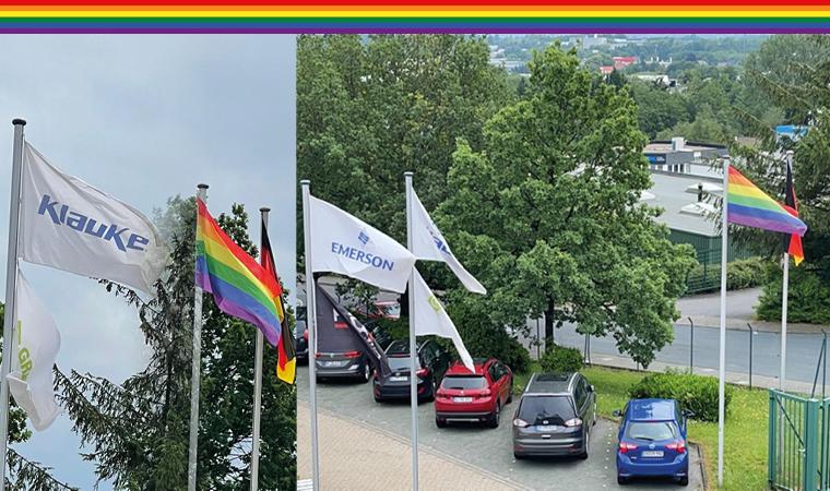 Pride Flagge am Standort in Remscheid