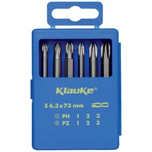 "Bit set, 6 pcs, 1/4"", 73 mm"