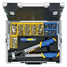 L-BOXX 50B made of plastic with standard equipment for electrical installations
