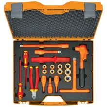 "Fully insulated tool set, 1/2"", 20 pieces"