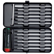 Torque screwdriver set, 14 pcs, 0.6 - 1.5 Nm