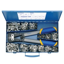 Steel assortment box with tubular cable lugs 6-50 mm² and crimping tool K05
